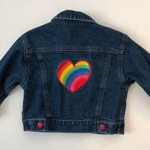 J. Khaki Rainbow Heart Denim Jacket - 3T